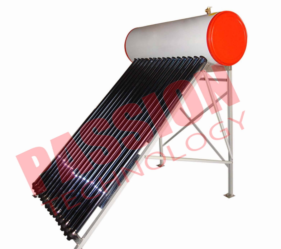 Flat Roof Thermosiphon Solar Water Heater Copper Pipe Anti Corrosion Material
