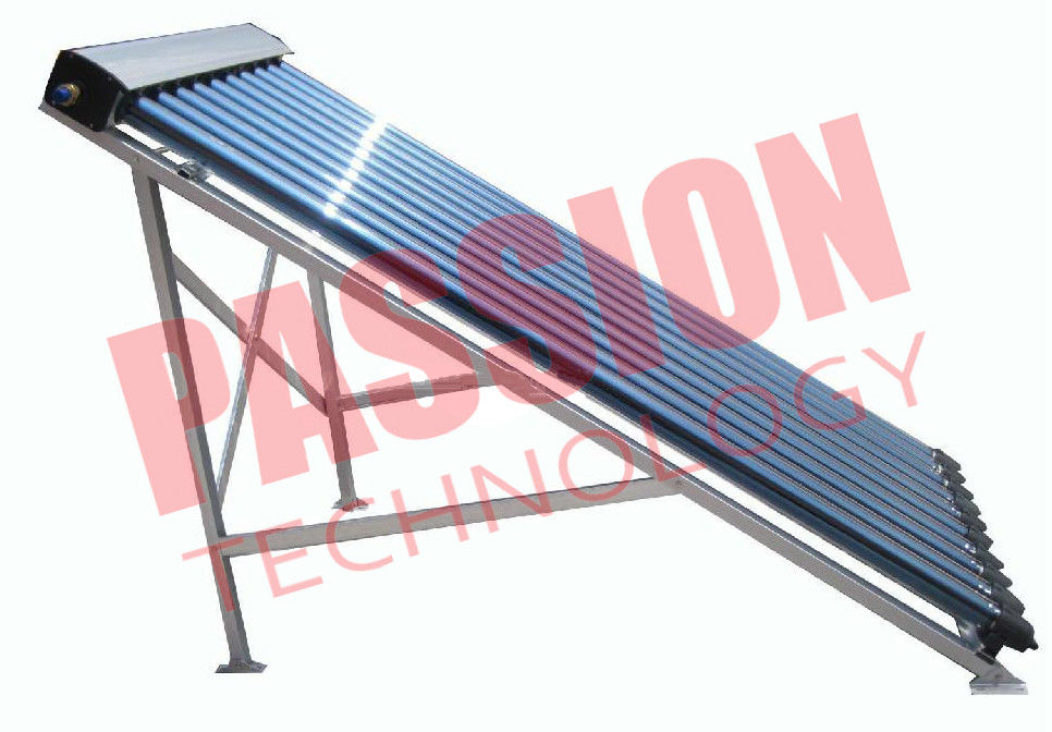 Glass Wool Heat Pipe Solar Collector 24mm Copper Condenser Flat Roof