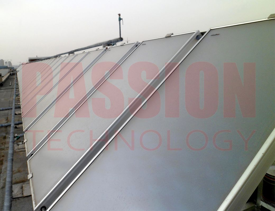8000L Resort Solar Water Heating Solution Blue Titanium Flat Plate Solar Collector