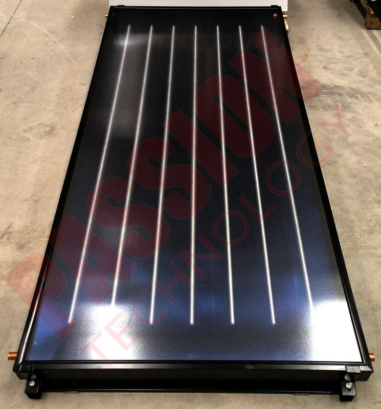 Blue Coating Flat Plate Solar Collector EPDM Insulation Solar Pool Heating Project
